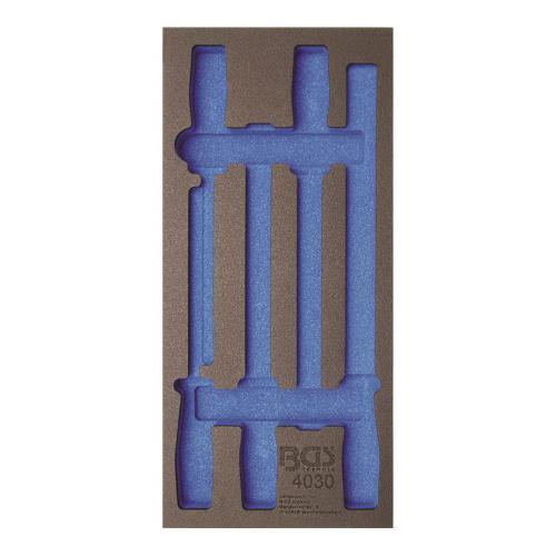 1/3 Werkstattwageneinlage: (408x189x32 mm), leer, für Feilen-Satz