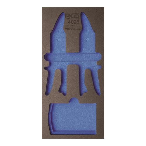 1/3 Werkstattwageneinlage: (408x189x32 mm), leer, für Stufenbohrer- / Blechscheren-Satz
