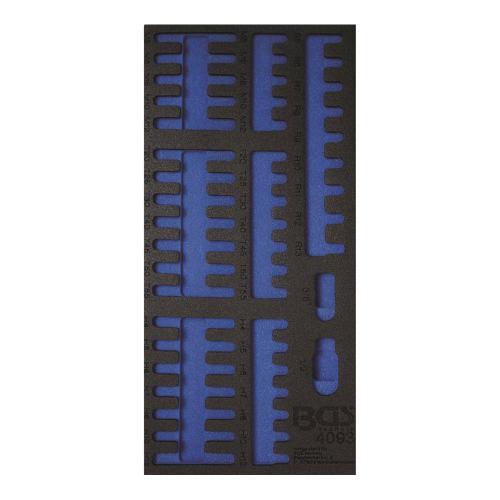 1/3 Werkstattwageneinlage (408x189x32 mm), leer, für Kombi-Bit-Satz, 49-tlg.
