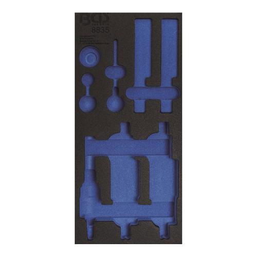 1/3 Werkstattwageneinlage (408x189x32 mm), leer, für Motor-Einstell-Satz, passend für BGS 8835