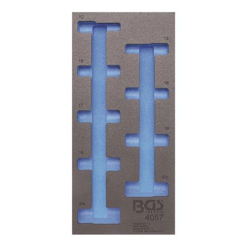 1/3 Werkstattwageneinlage (408x189x32 mm), leer, für Steckschlüssel-Einsätze  12,5 (1/2), 6-Kant, tief, 10-24 mm