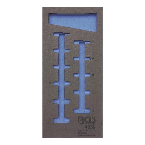 1/3 Werkstattwageneinlage (408x189x32 mm), leer, für Steckschlüssel-Einsätze  6,3 (1/4), 6-Kant, tief, 4-13 mm