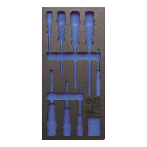 1/3 Werkstattwageneinlage (408x189x32 mm), leer, für VDE Schraubendreher-Satz, 8-tlg.