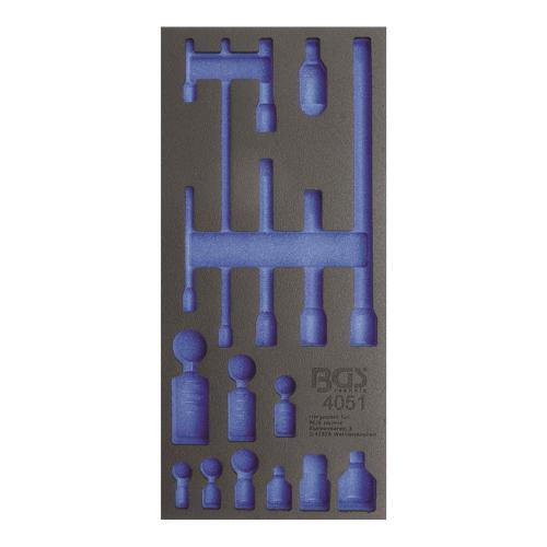 1/3 Werkstattwageneinlage (408x189x32 mm), leer, für Verlängerungs-, Adapter- & Gelenk-Satz