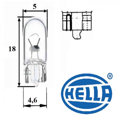 10 x Hella Glühlampe 8GP 002 095-121 12V 5W Cockpitbirne Instrumentenbeleuchtung
