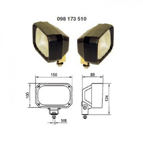 2 x Arbeitsscheinwerfer, H3, 12V/24V, Hella Vergl.Nr.:1GA 005 06 876-001