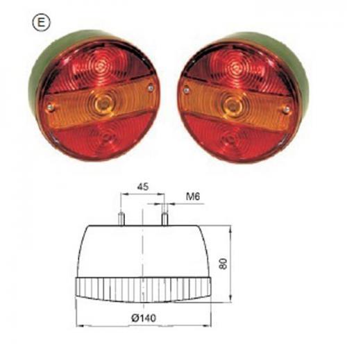 2 x Dreikammer - Schluss-Brems-Blinkleuchten, Hella-Vergl.Nr.:2SD001685-211/231