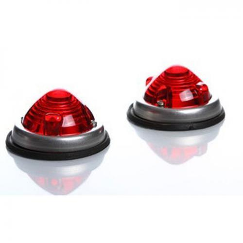 2 x Positionsleuchten Chromring E-geprüft rot Schlusslicht 12/24 Volt
