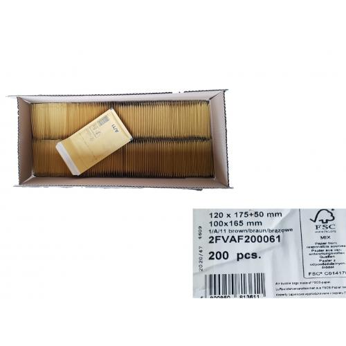 200x Luftpolstertasche braun Innenmass: 95 x 165mm Gr.1 Klebelasche