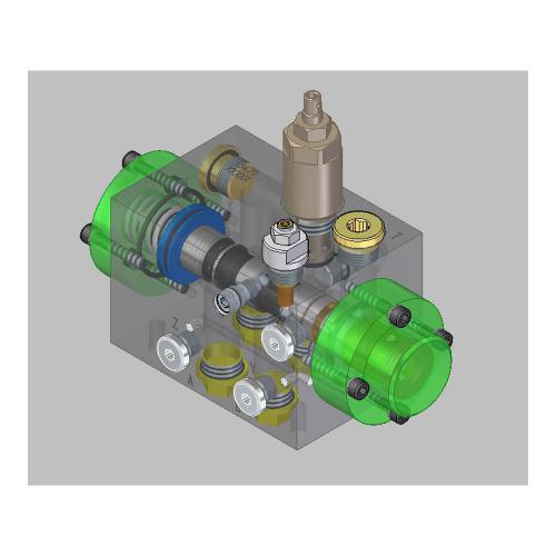 4/2 Wegeventilblock NG 16 - TL - Schieberventil - hydraulisch gesteuert - Container - Press - Ventil