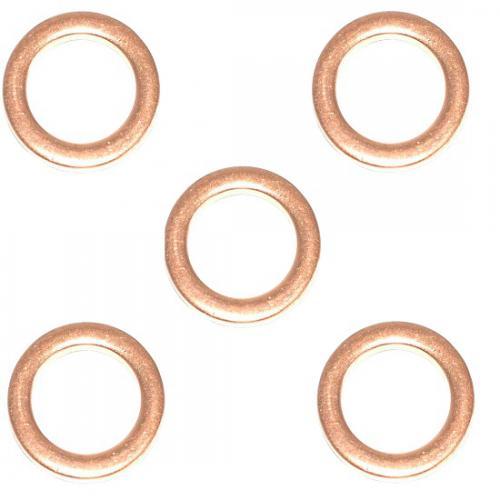 5 x Wärmeschutzscheibe Dichtring Kupferscheibe Ø21mm Ø14,2mm h=2,0mm