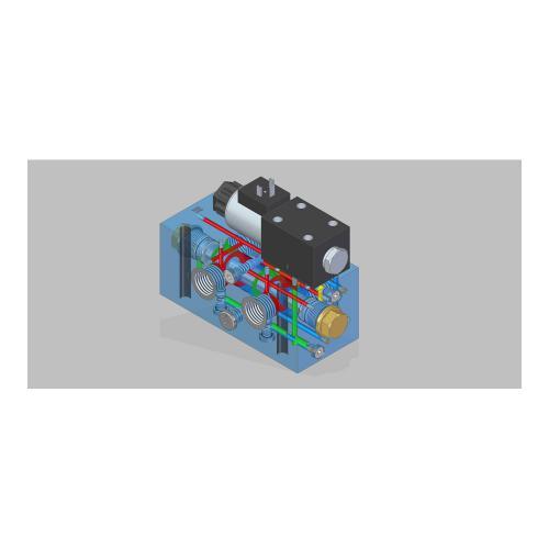 6/2 Wegeventil - TB - 24 VDC - Anschlussgewinde G 3/4, Q=150 L/min., Leckageanschluss