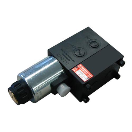 6/2 Wegeventil - TL - Grundventilausführung - 12 VDC - Ausführung links - Anschlussgewinde M18 x 1,5 - Q max 70 l/min - mit Schockabsorber 210 bar