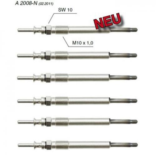 6 x Glühstiftkerze Stabglühkerze Glühkerze BMW Bosch-Vergl.Nr.0250202103