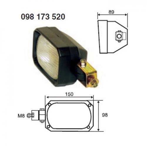 Arbeitsscheinwerfer, H3, 12V/24V, Hella Vergl.Nr.:1GA 005 06 875-001