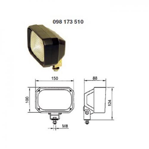 Arbeitsscheinwerfer, H3, 12V/24V, Hella Vergl.Nr.:1GA 005 06 876-001