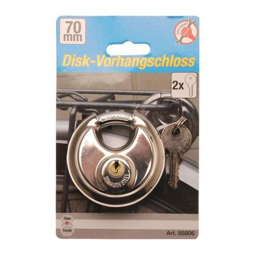Disk-Vorhängeschloss, 70 mm