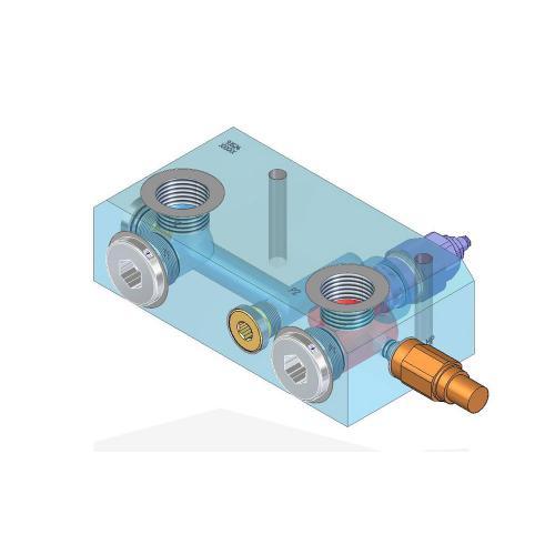 Druckbegrenzungsventil mit G1 Anschlüssen - 350 bar