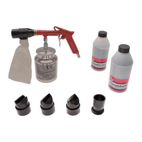 Druckluft-Sandstrahlpistole mit Zubehör