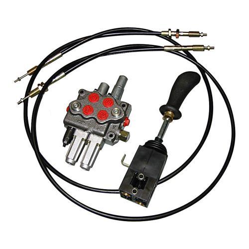 Einhebelsteuerventil 45 l/min - dw/dw+S - 2000 mm Seilzug - inkl. Verschraubung für Druckweiterführung (W)