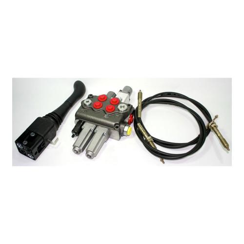 Einhebelsteuerventil 70 l/min - dw/dw+S - 2000 mm Seilzug - inkl. Verschraubung für Druckweiterführung (W)