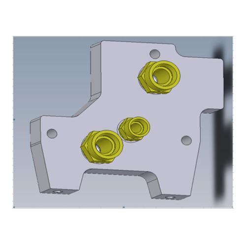 Endplatte für SB 23 LS mit Anschlüssen P - LS - T., - TG -