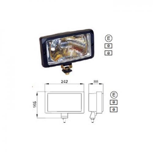 Fern-Nebelscheinwerfer, Arbeitsscheinwerfer, 12V/24V, Vergl.Nr.:1FE006300-041