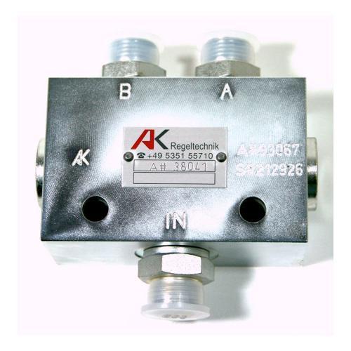 Gassenmarkierungsventil - TG - 250 bar - 15 l/min - inkl. drei Verschraubungen GE 12L