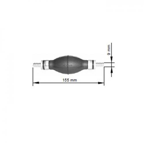Handpumpe, Entlüfterpumpe, Vergl. CAV 9001-088A, universal, Gummibalg