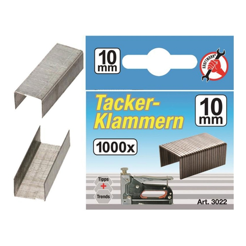 Klammern à 1000 Stück, 10 mm