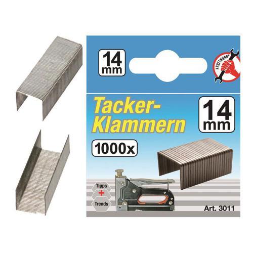 Klammern à 1000 Stück, 14 mm