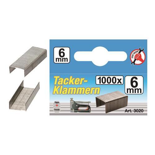 Klammern à 1000 Stück, 6 mm