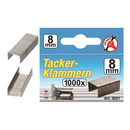Klammern à 1000 Stück, 8 mm