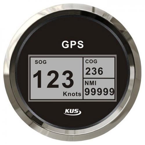 KUS GPS Digital Geschwindigkeitsmesser Speedometer Tachometer 85mm SOG COG schwarz