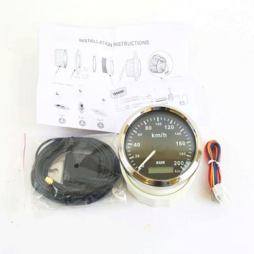 KUS GPS Geschwindigkeitsmesser Tacho 200 km/h schwarz