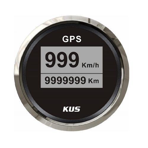 KUS GPS Tachometer 0-999km/h Edelstahllünette in ansprechender Optik - schwarz