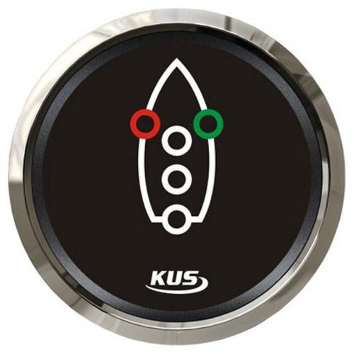 KUS Kontrollanzeige Navigationsbeleuchtung 12/24Volt Edelstahl Boot - schwarz