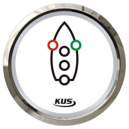 KUS Kontrollanzeige Navigationsbeleuchtung 12/24Volt Edelstahl Boot - weiss