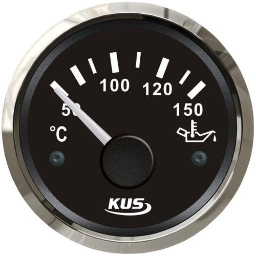 KUS Öltemperaturanzeige Öltemperaturmesser 50-150°C, Edelstahl schwarz