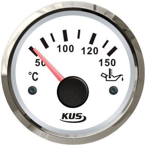 KUS Öltemperaturanzeige Öltemperaturmesser 50-150°C Edelstahl weiß