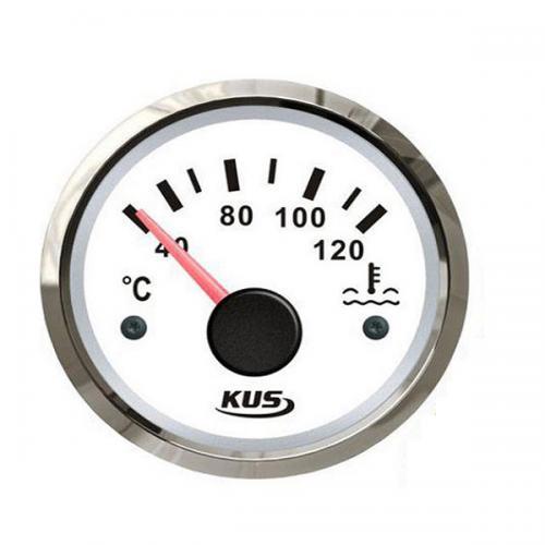 KUS Temperaturanzeige Wasser Edelstahl weiß