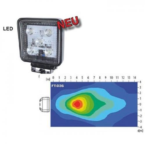 LED-Arbeitsscheinwerfer, 12-24 Volt, 5 LEDs, 1200 Lumen, top