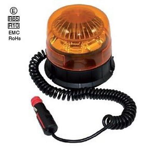 LED Blitzleuchte, Rundumleuchte, 10-30Volt, 9Watt, IP68, Magnetbefestigung, top