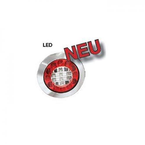 LED Schluß-Brems-Blinkleuchte 12 & 24V Chrom LKW Truck Trailer Auflieger