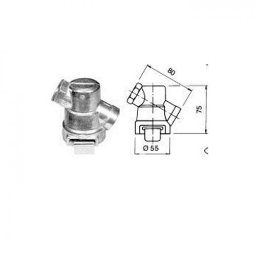 Leitungsfilter, Druckluftbremse, M22 x 1, 5, Alu-Druckguss