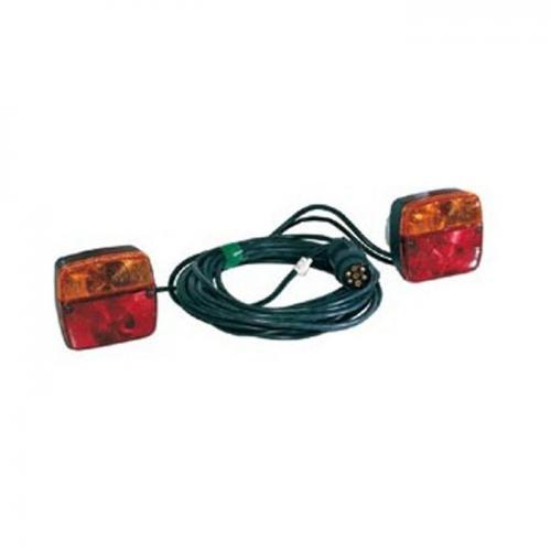 Leuchtensatz mit Magnetbefestigung, inkl. 12 Volt Glühlampen, 7, 5m Anschlußkabel