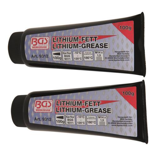 Lithium-Fett für Mini-Fettpresse Art. 9311, 2 Tuben