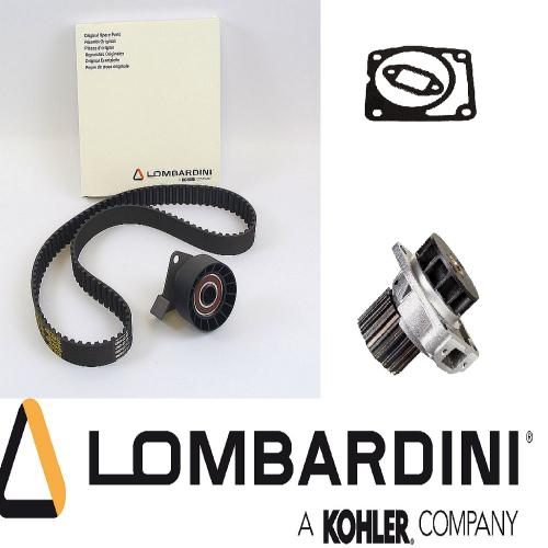 Lombardini Wasserpumpe inkl. Dichtungssatz Zahnriemen 113 Z. Spannrolle LDW 1204 1404 Terex