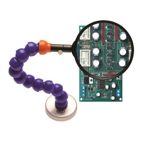 Lupe mit flexiblem Haltearm und Magnetfuß