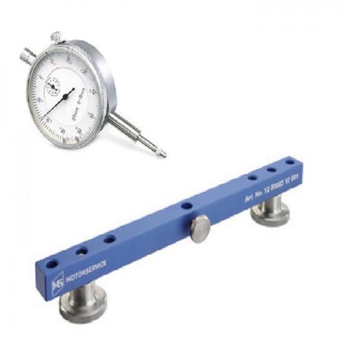 Messuhr & Messbrücke Kolbenschmidt 0-10mm Meßbereich Metallgehäuse
